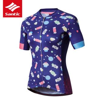 Santic sepeda Bicycle pakaian berkuda pakaian (Biru)