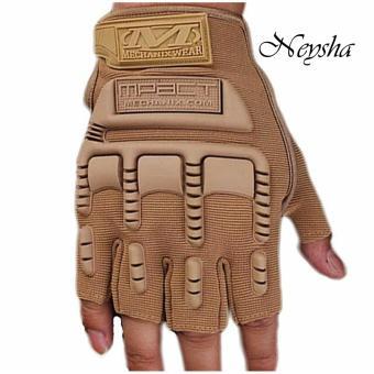 Sarung Tangan Glove Tactical Army Military Bikers M-PACT MECHANIX Half Finger