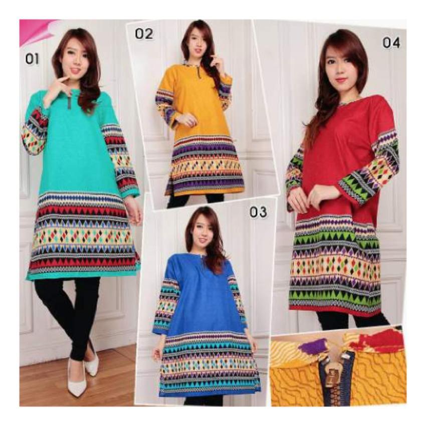 ... SB Collection Atasan Blouse Shaloom Kemeja Jeans Jumbo Wanita Source Biru PriceNia com Source