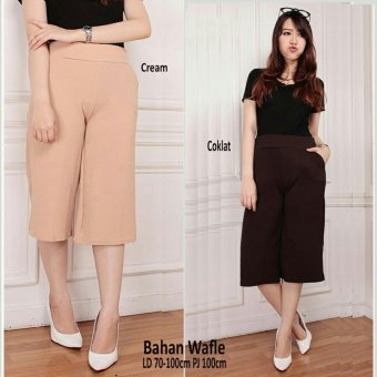 SB Collection Celana Gita Short Kulot Pant-Coklat