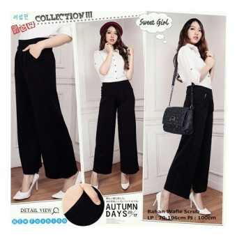 SB Collection Celana Kulot Panjang Oneblack Long Pant-Hitam