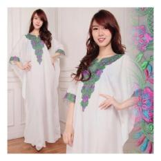 ... SB Collection Kaftan Lolita Gamis Jumbo Maxi Dress Bordir Putih