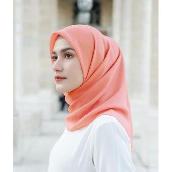 Hijab Kerudung Segiempat Square Katun Cotton Paris Import - Fashion Wanita Muslim