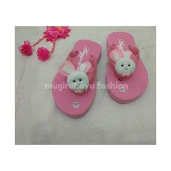 Sendal Jepit Anak Wanita Pink Boneka