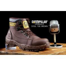 Sepatu boots caterpillar safety brown