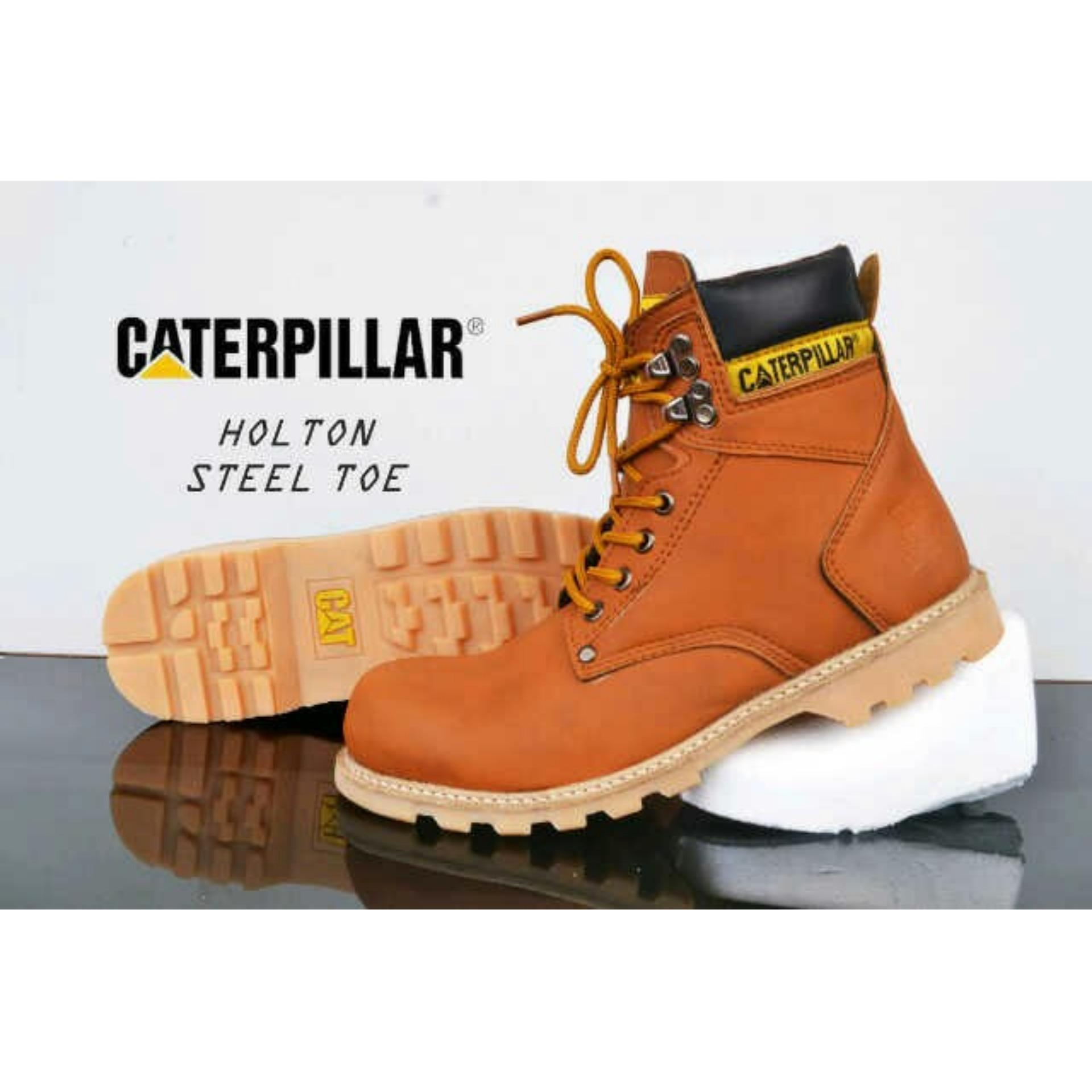 Belanja Terbaik Sepatu Boots Caterpillar Safety Holtons Brown Flash Sale