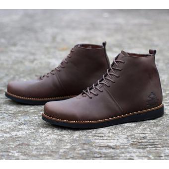 Cek Harga Baru Sepatu Boots Pria Leather Wolf Brodo Black Terkini ... 319cb0a91e