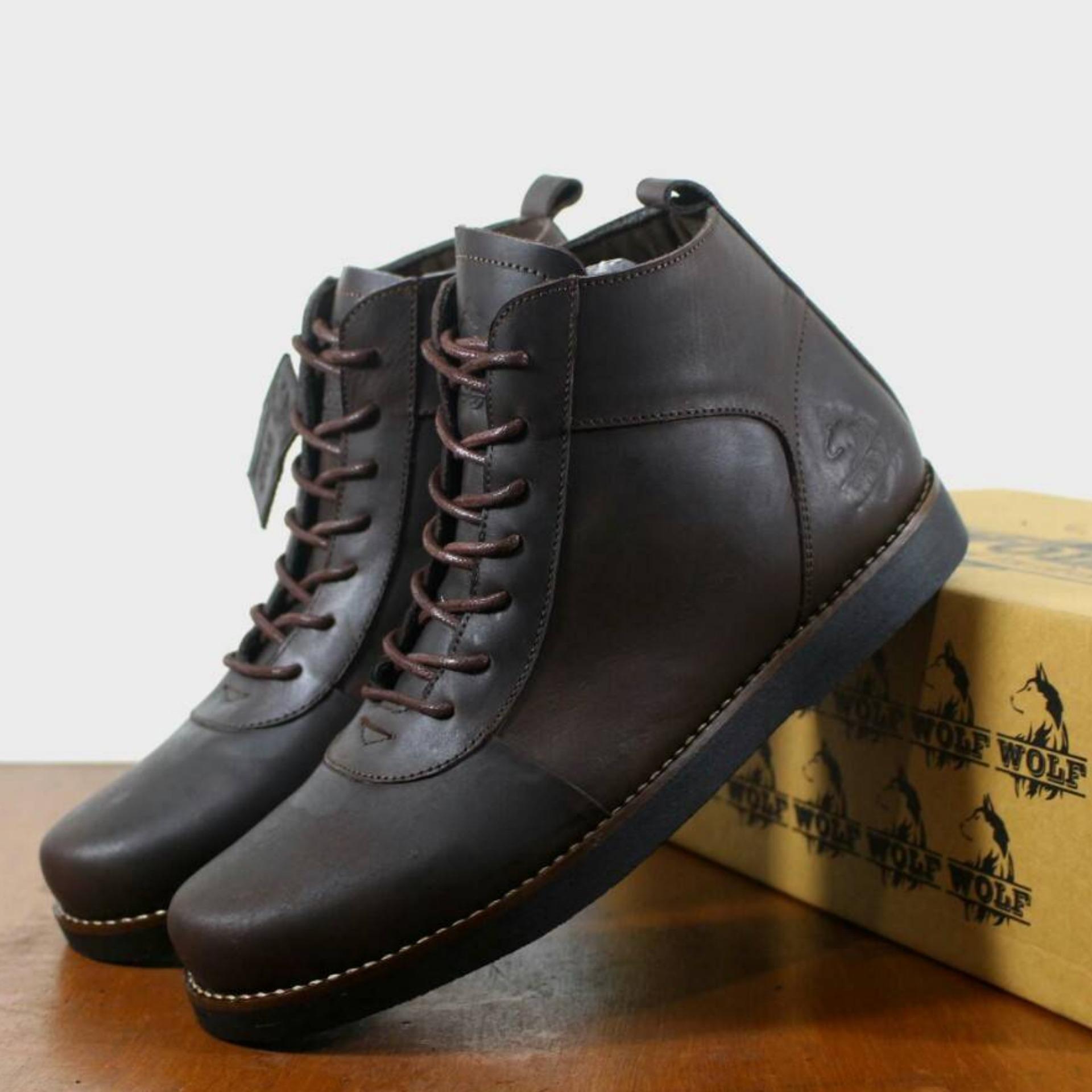 Perbandingan harga Sepatu Brodo Boot Pria - Kulit Asli - WOLF GOLDEN ... 5e55da6fda