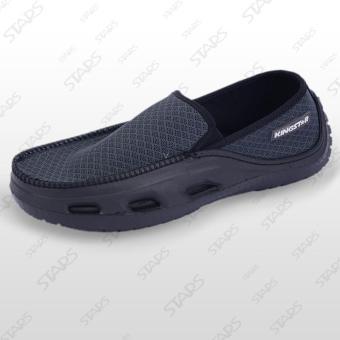 Sepatu Casual KINGSTAR CNN Hitam Abu Abu