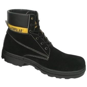 Sepatu caterpillar hitam suede. sepatu gunung caterpillar sepatu safety caterpilar safety shoes hitam tinggi suede