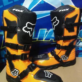 harga Sepatu cross/trail fox - Orange Lazada.co.id