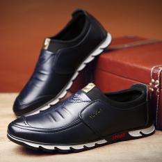 Sepatu Kasual Pria Kulit Kantor Sepatu Kerja Sepatu Berjalan KakiYang Nyaman  Biru b91603cdc8