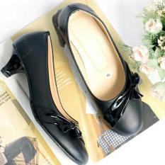 Sepatu Kerja Pantofel Wanita Heels - Black
