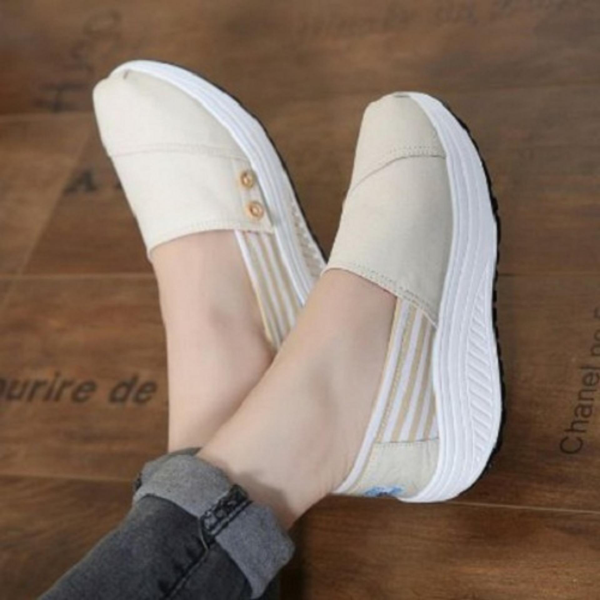 Lynn Sepatu Kets Wanita Slip On K3mgcr Cream Daftar Harga Terbaru Linalee Clarisa Tom