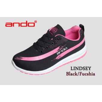 Sepatu Lindsey Black Fuschia
