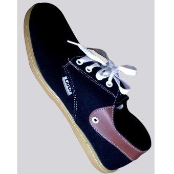 Sepatu Lois Hitam Lis Coklat - 3 .