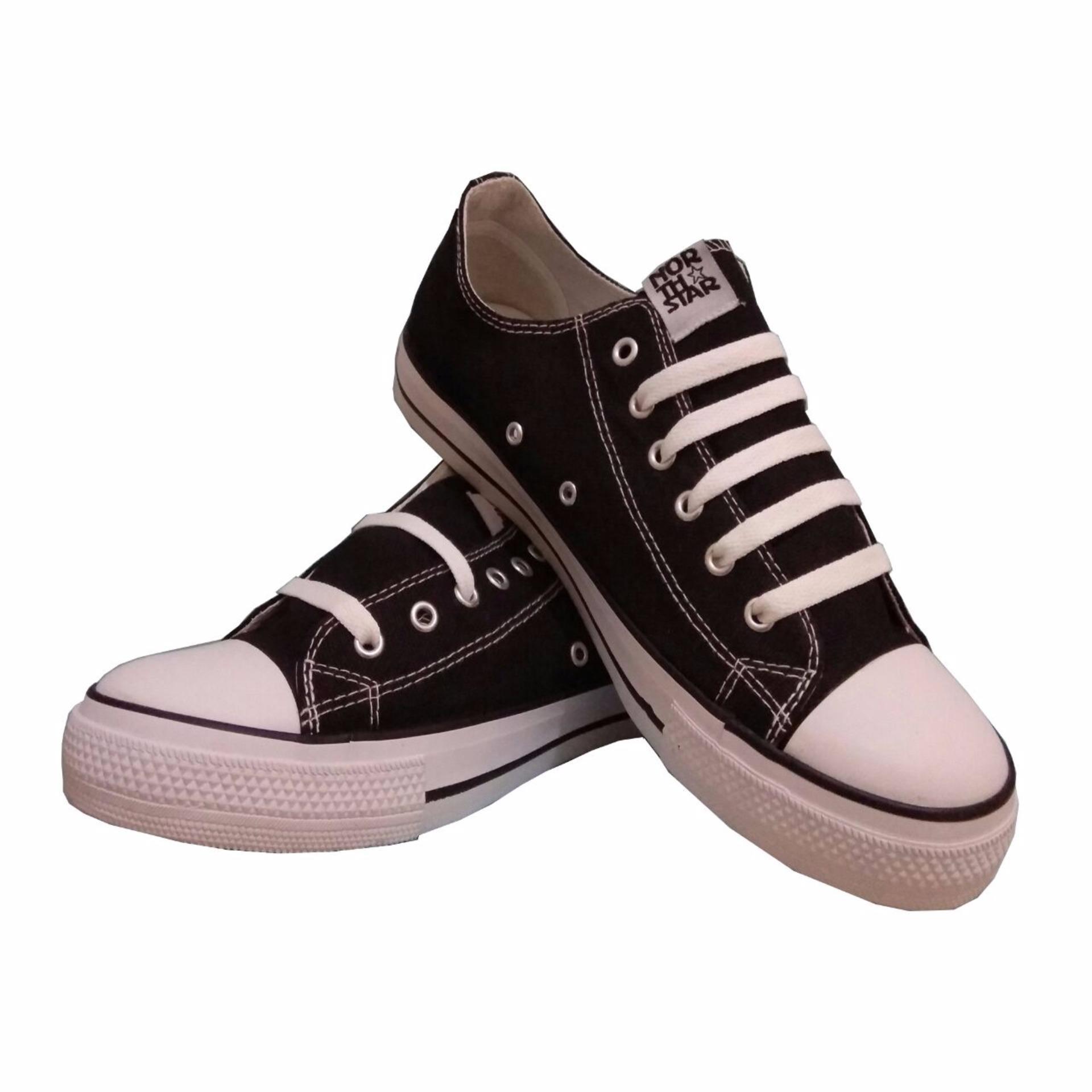 Sepatu Sekolah Warrior Athena High Cut Hitamputih Daftar Harga North Star Low Black White
