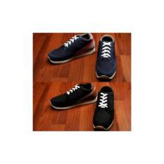 Sepatu Olahraga Santai Casual Running Footstep Trainer OriginalPria Hitam Navy