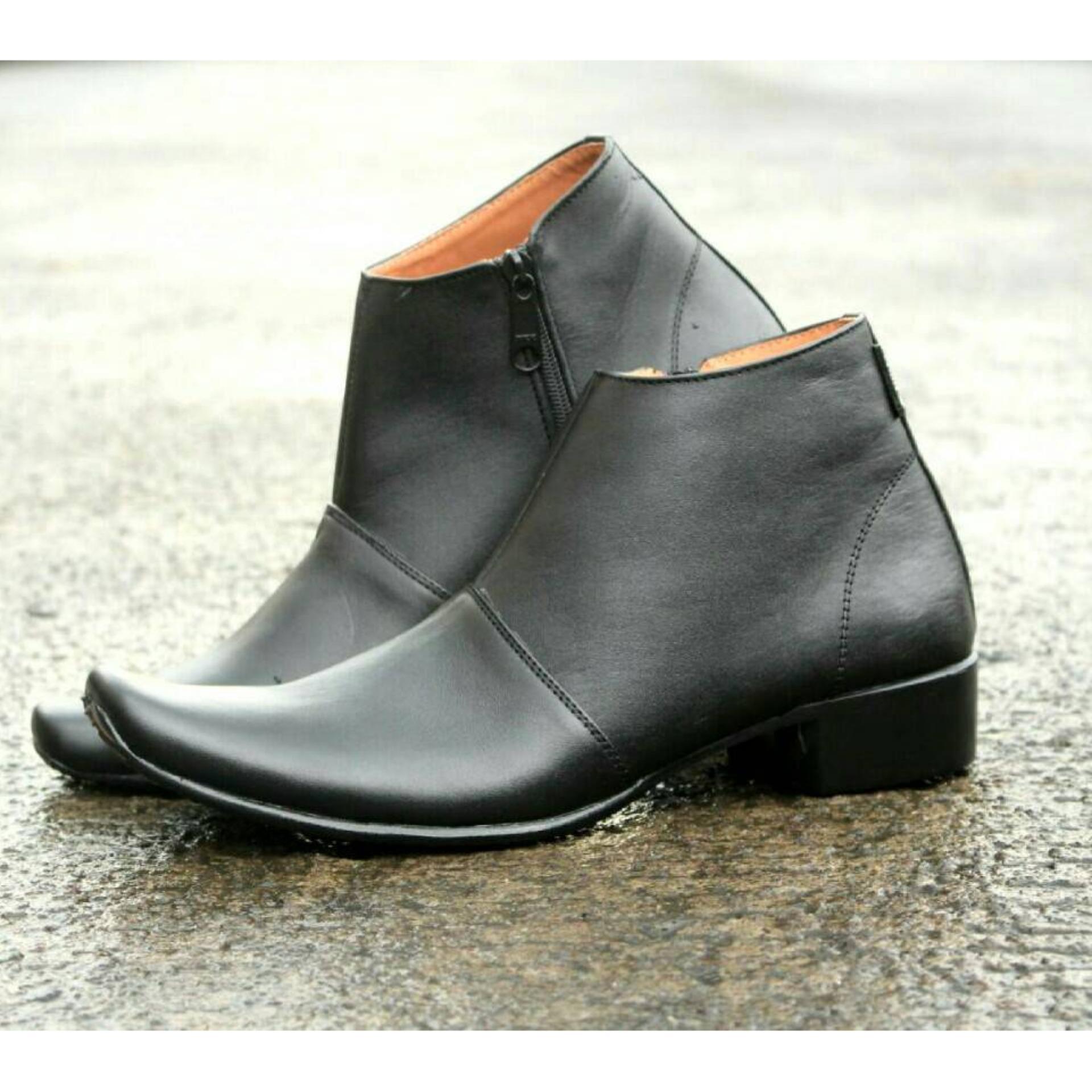 Harga Saya Sepatu Pantopel Formal Pria Kulit Asli Cevany Mice Badami Black