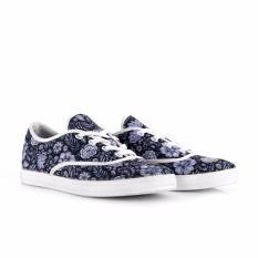 Sepatu piero cewek P10525 LEA - BLACK/FLORAL