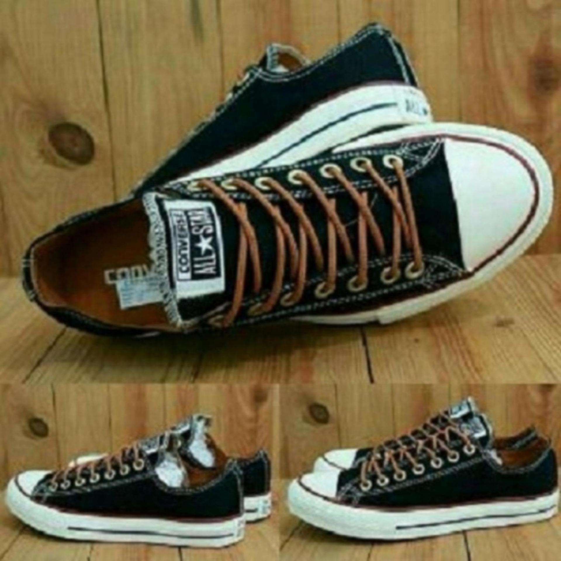 Price comparison Sepatu Pria Dan Wanita All Star Ring Gold Sneaker Unisex -  Black 54033323c0