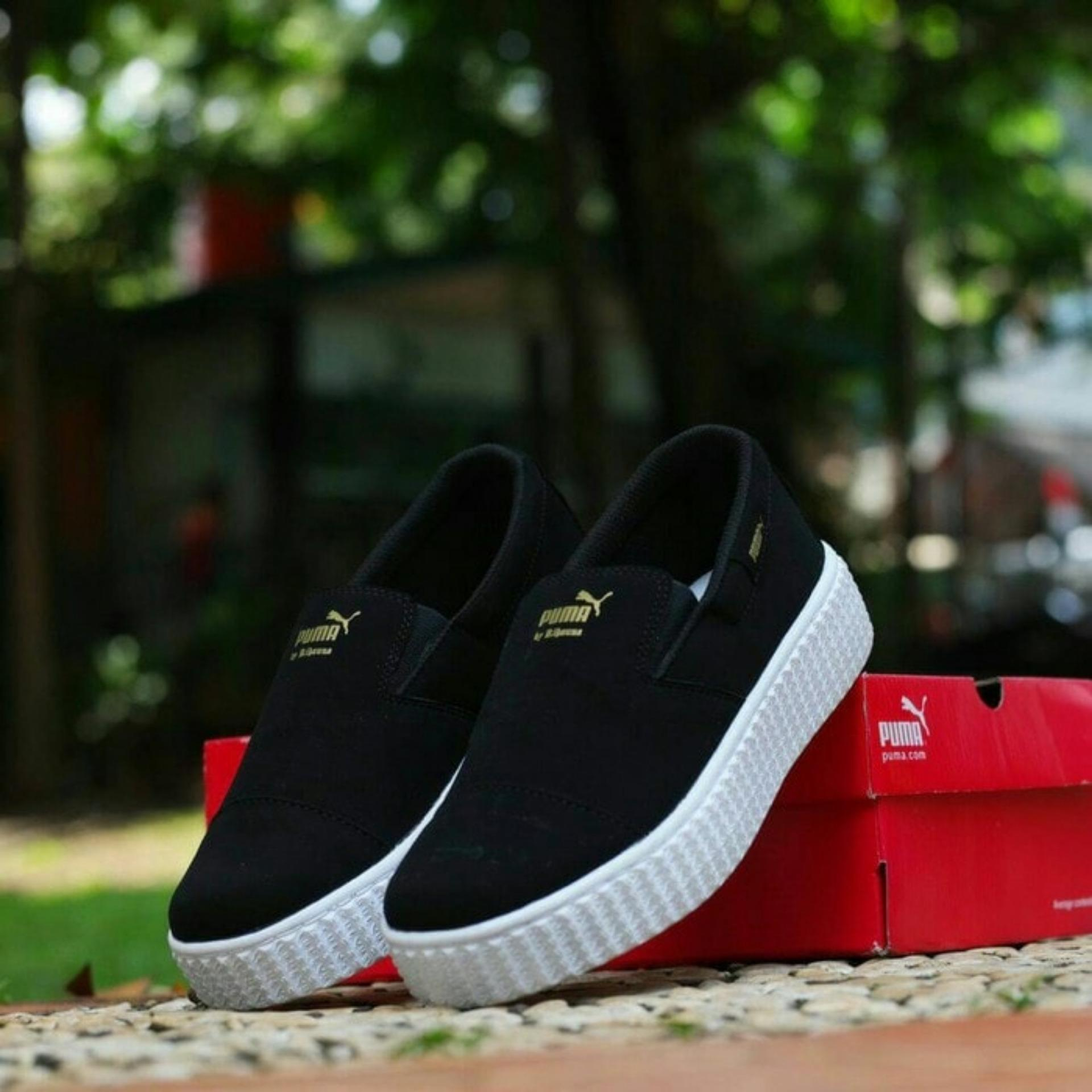 Sepatu Kets Puma Rihanna Replika Hitammaruncoklat - Daftar Harga ... 1060dd729c