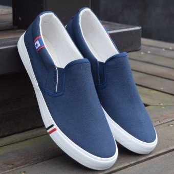 Sepatu Slip-on Loafer Pria Casual Shoes Men's Slip-on Loafers Lazy Men Casual Shoes Blue