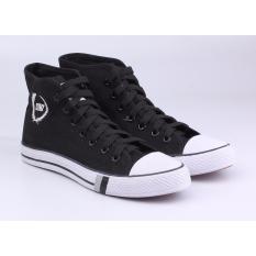 Sepatu Sneakers Kets Casual Pria Catenzo JA 002 Hitam Kanvas