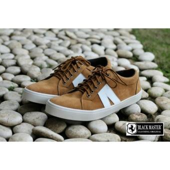 Sepatu Sneakers Pria Simple - BLACK MASTER ARL LOW - Hitam /Coklat/Merah/
