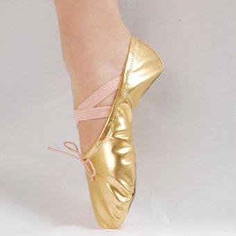 Sepatu Wanita bahan Kulit Berpayet Ujung Lancip/Pointed Sepatu Dansa Sepatu Senam Sepatu Balet warna