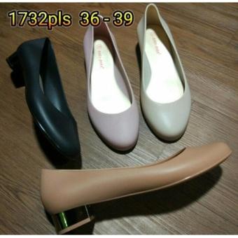 Sepatu wanita cewe resmi kerja kantor karet jelly pantofel bara