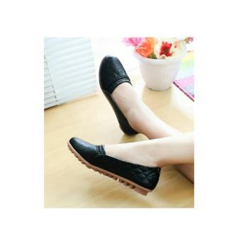 Sepatu Wanita Flatshoes BLD04 HITAM
