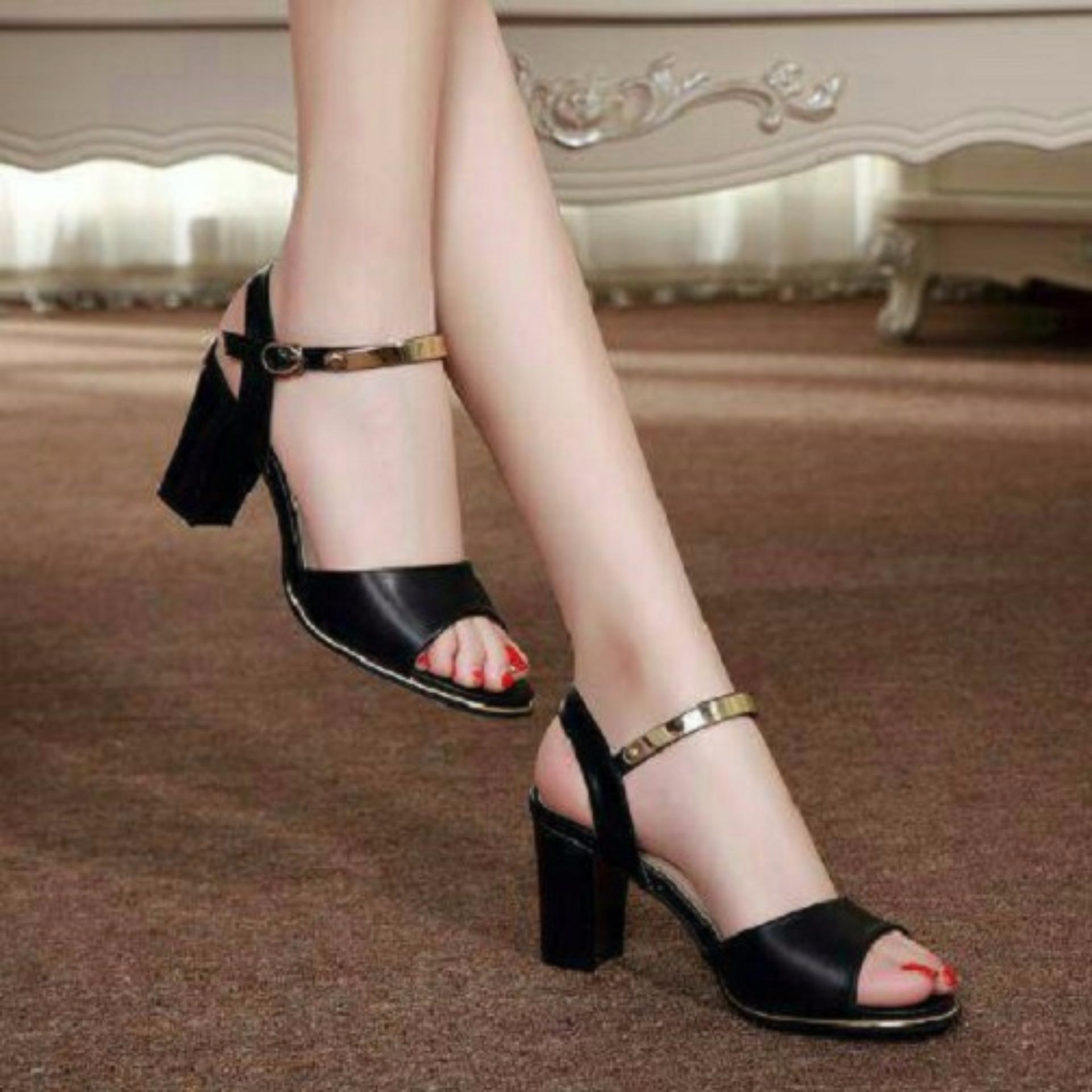 Sepatu Wanita High Heels Uj01 Hitam Daftar Update Harga Terbaru Regina Fantofel Hak 5 Cm 1611 115 168 D Red