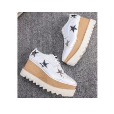 Sepatu Wanita Wedges bintang putih