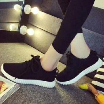 Sepatu Pria / Snekaers Pria / Sepatu wanita / Kets / Sepatu Yz- Hitam Polos