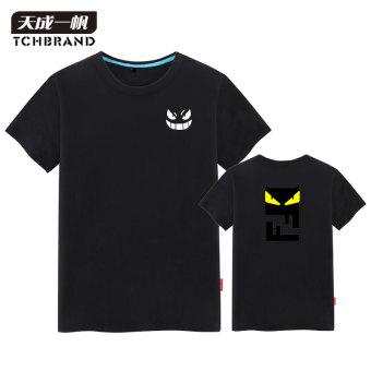 Gambar Setan kecil versi Korea lengan pendek pria musim panas t shirt (Hitam 12)