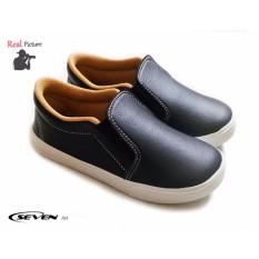 Seven Sepatu Anak Plain Black-MGP