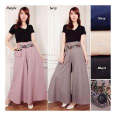 Shining Collection Celana Kulot Rok Natasa Long Pant -Ungu