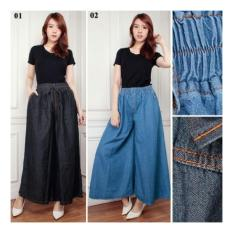 Shining Collection Celana Kulot Urbach Jeans Jumbo Long Pant-Hitam