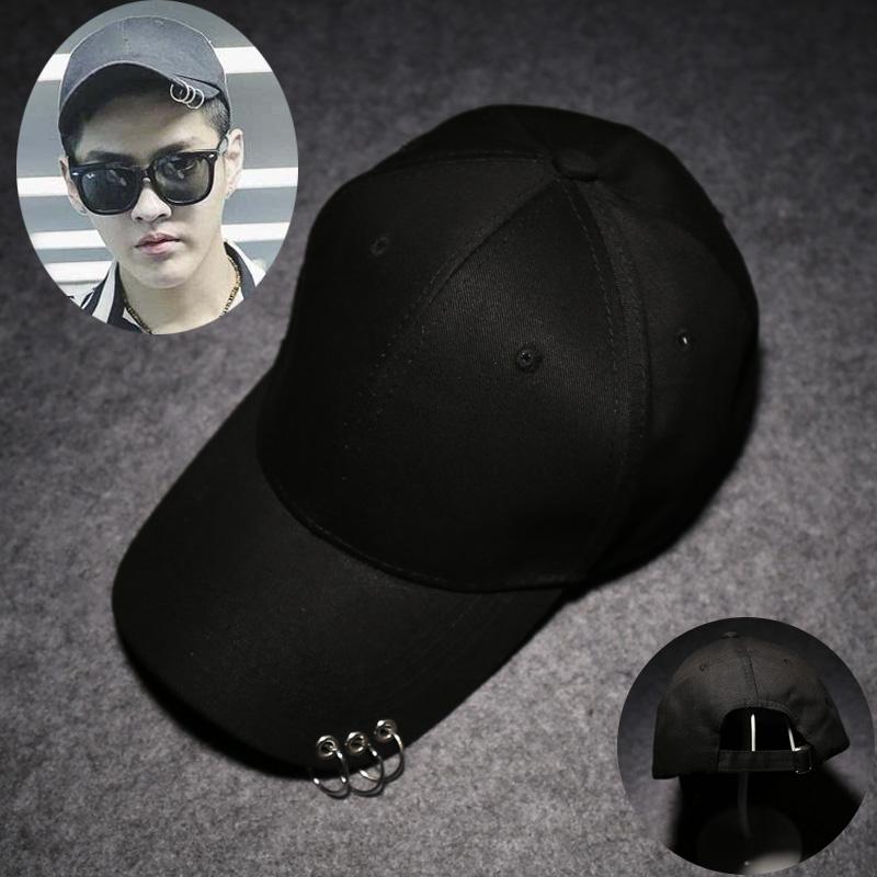 SHININGSTAR laki-laki musim gugur Korea Fashion Style topi ayat yang sama topi (Hitam