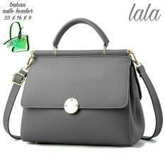SHOPPIES Tas Branded Wanita With Pompom - High Quality TAS LALA PU Leather Korean Elegant Bag Style