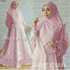 Shopping Yukz Baju Gamis Muslim Syari FITRI - PINK ( Dapat Jilbab ) /Dress Muslim / Fashion Muslim / Baju Muslimah / Gaun Muslim / Gamis Wanita / Hijab Muslim/ Gamis Murah