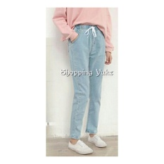 Shopping Yukz Celana Boyfriend Wanita CLAUDIA (Kualitas Premium ) - SOFT BLUE / Celana Panjang / Celana Jeans Wanita / Boyfriend Jeans / Celana Wanita