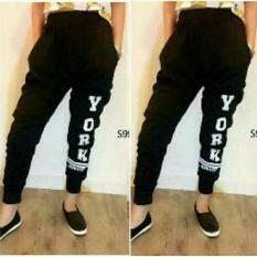 Shopping Yukz Celana Wanita Jogger York - Black