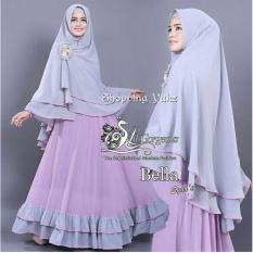 Shopping Yukz Syari 2in1 BELLA (LAVENDER - ABU) / Dress Muslim / Gamis Wanita / Baju Muslim / Hijab Muslim / Fashion Muslim / Syar'i Muslim