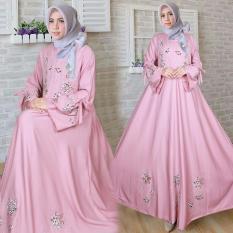 Snowshop Gamis Syari Flower - Pink