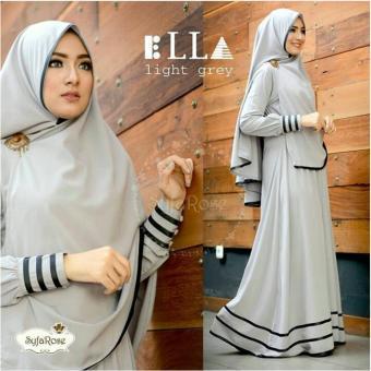 Snowshopkita Dress Muslimah Gamis Syari Syfarose - Grey