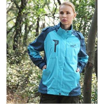 SNTA Jaket Outdoor Wanita Camping Hiking Jacket 6602 - Biru 4d85219a12
