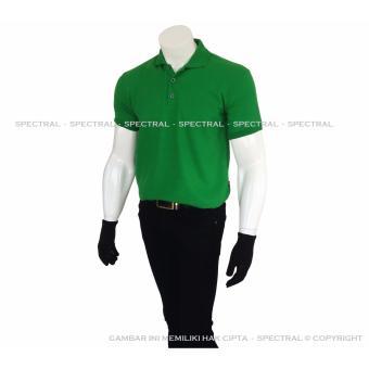 Spectral - Polo Shirt Polos M L XL Lengan Pendek Kaos Kerah Pakaian Berkerah Atasan Pria Wanita Cewe Cowo Lacos Pique Lacost Fashion Simple Keren Simpel Formal Casual Korean Bagus Murah - Hijau Green Emerald - 5