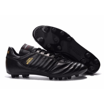 Harga SpeedFly Football Shoes Copa Mundial FG Soccer Shoes FG FootballBoots Black/Metallic Gold - intl